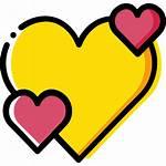 Heart Icon Icons Yellow Shapes Flaticon Basic