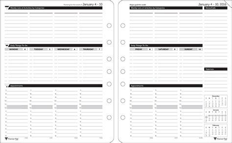 Printable Pad Template by Planner Pads Leaf Organizer Black Ink Style