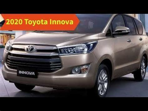 toyota innova crysta facelift 2020 toyota innova 2020 model review redesign engine and