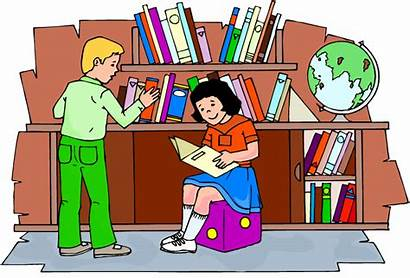Library Clipart Clip Cliparts Cartoon Title Children