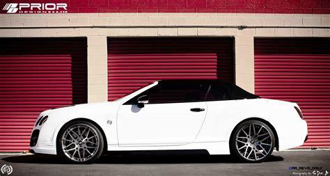 matte white bentley prior design bentley continental gt gtc aerodynamics in