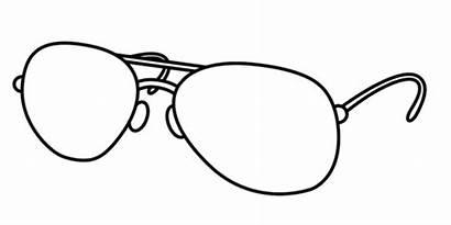 Cartoon Sunglasses Glasses Draw Eye Sun Animated