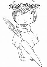 Knife Coloring Pages Knife3 sketch template