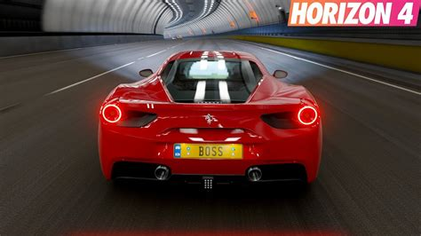 Also good to see it has the new fitment options so i can get those tires nice. Forza Horizon 4 - Tunnel Sound - Ferrari 488 GTB   Gameplay - YouTube