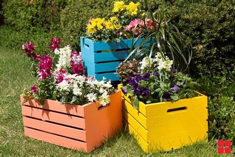 wooden crate planters project page