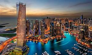 Dubai Uae Buildings Skyscrapers Night Hd Wallpaper 93494 ...