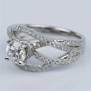 diamond color clarity chart double cross split shank diamond engagement ring 0 91 ct