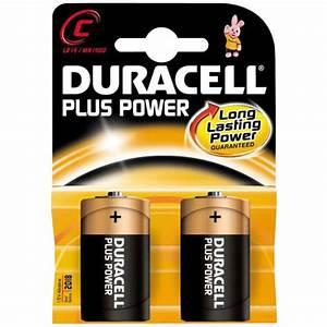 Duracell Plus Power C Type Batteries Mn1400