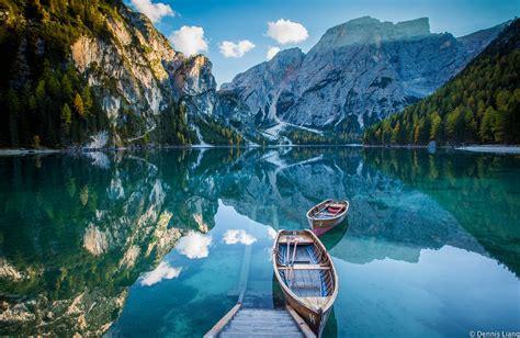 Lago Di Braies Dolomites Italy Dennis Liang Flickr