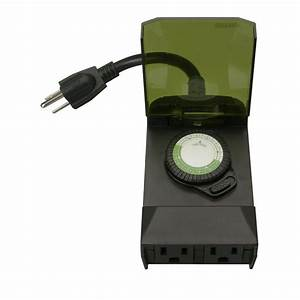 Woods hour outdoor mechanical light timer conductor