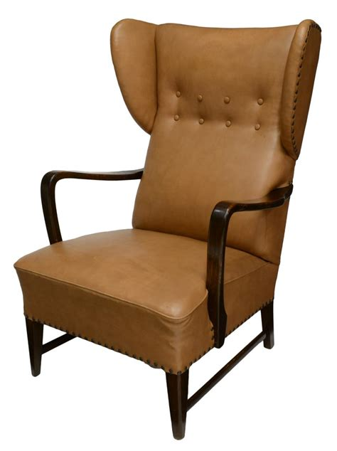 mid century modern upholstered wing chair june