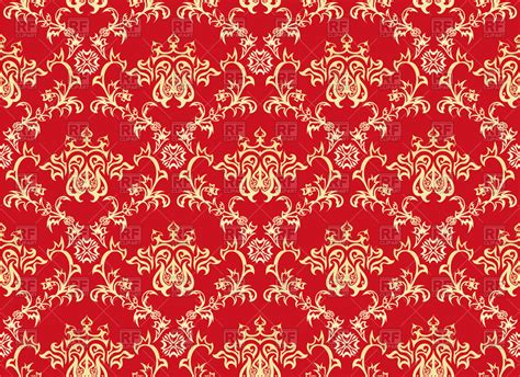 Tapete Rot Muster by Seamless Antique Pattern Style Wallpaper
