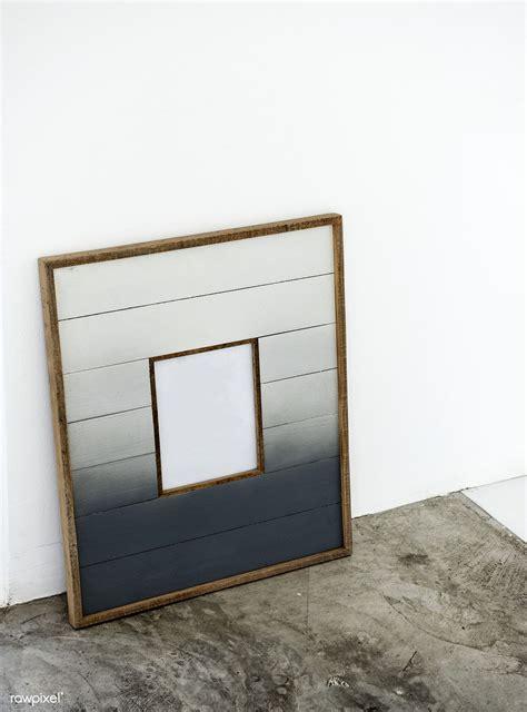premium psd  design space wooden frame