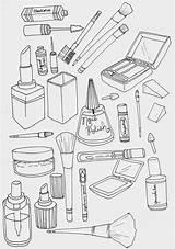 Coloring Makeup Printable Sheets Printables Books Coloringtop Than sketch template