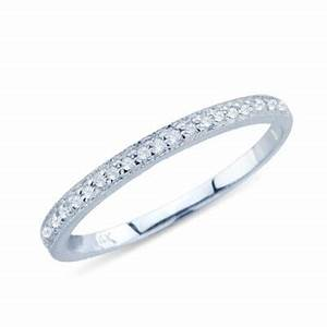 Petite Pave Diamond Wedding Band In 14K White Gold 31832