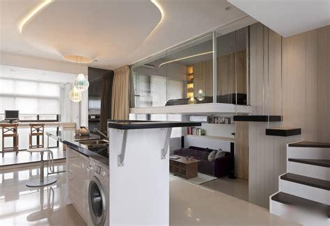 chambre avec plafond en pente modern and stylish small apartment decoholic