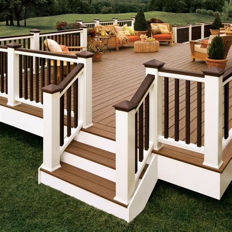 trex decking pricing home depot deck amazing composite decking lowes azek decking
