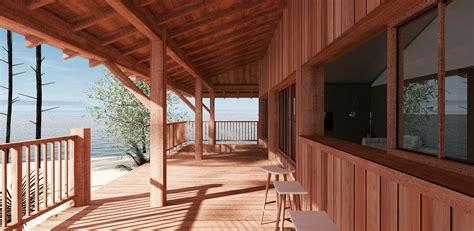 plan plain pied 2 chambres construction d 39 une cabane bois sur pilotis a sanguinet 40