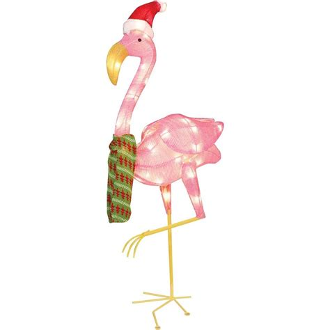 holiday time christmas decor  flamingo clear light