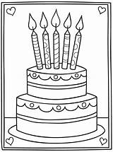 Birthday Cake Digi Coloring Pages Stamps Preschool Stamp Card Happy Cards Cartoon Digital Downloads Papercraft Google Printable Template Adult Sheets sketch template