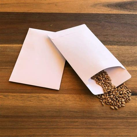 Blank Seed Envelopes (self sealing)   3.25 x 4.75 inches (when sealed) - Amkha Seed