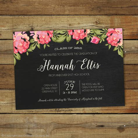 graduation party invitation designs  examples psd