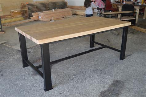 table en bois industriel indogate salle a manger style industriel