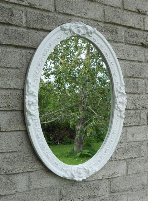 White Framed Oval Bathroom Mirror by 1000 Ideas About Oval Bathroom Mirror On
