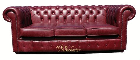 Chesterfield Settee by Chesterfield 3 Seater Settee Burgandy Leather Sofa