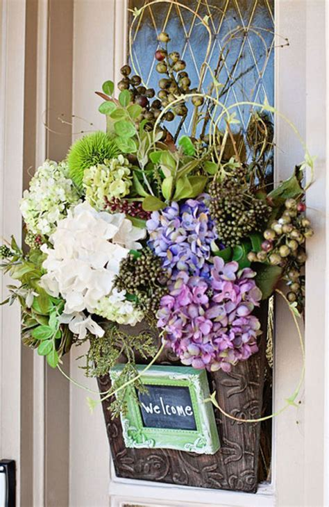 awesome spring decorations   front door homemydesign