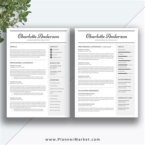 Sle Professional Resume Templates by Two Page Resume Template 28 Images Sle 2 Page Resume