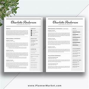 Unique resume template 3 page cv template word professional modern resume cover letter for 2 page resume template
