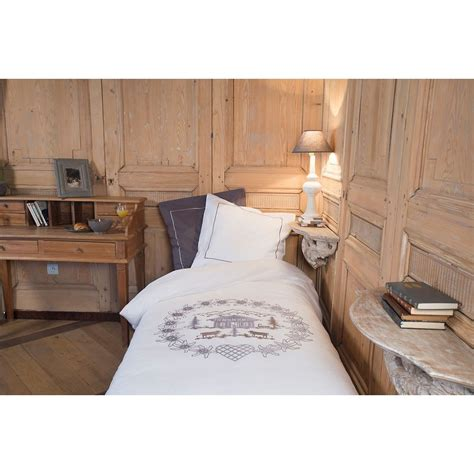 housse de couette ronde housse de couette ronde d edelweiss blanche brod 233 grise vagabonde