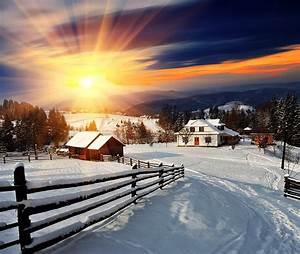 Sonne Im Winter : bilder lichtstrahl dorf natur sonne winter zaun schnee ~ Lizthompson.info Haus und Dekorationen