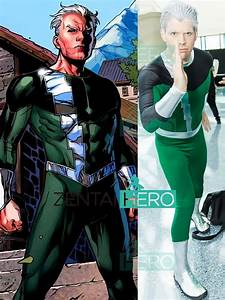 Free, Shipping, X, Men, Quicksilver, Cosplay, Costume, Green, And, Black, Spandex, X, Men, Male, Comic