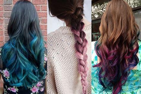 Green Ombre Pale Pink Dip Dye Purple And Blue Dip Dye