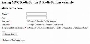 Spring 4 Mvc Multiple Radio Buttons Example Using Hashmap