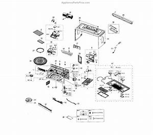 Parts For Samsung Me18h704sfs  Aa-0000     Hood Combo Cabinet Parts