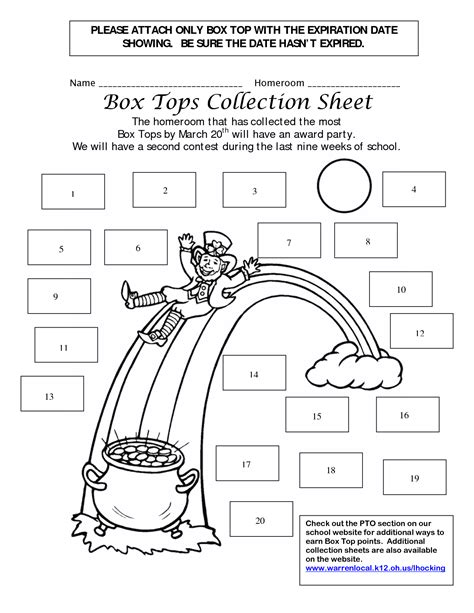 box top collection sheets 25 box tops collection sheets scouts box tops box