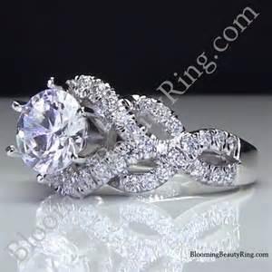 designer engagement rings 6 prong beautiful crossover pave set designer engagement ring bbr595 unique engagement rings