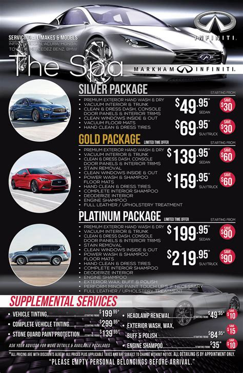 car suv detailing packages  markham infiniti