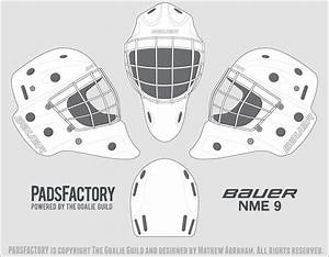Mask templates the goalie archive for Bauer goalie mask template