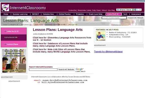language arts lesson plans elementary middle high school 362 | lesson plans elementary middle language arts
