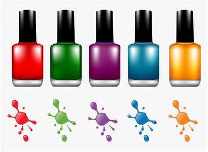 Polish Nail Bottle Clipart Manicure Cosmetics Suit