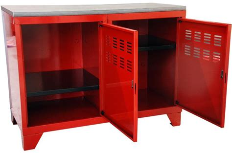 armoire rouge en m 233 tal laela meuble de rangement pas cher