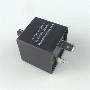 1pc 12v 3 Pin Led Adjustable Car Flasher Relay Waterproof