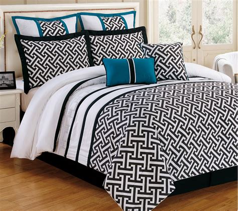 turquoise comforter set king breakfast room curtains turquoise and black comforter