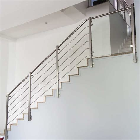 Garde Corps Escalier Interieur Re Escalier Inox 5 Barres Pose Anglaise Inoxdesign
