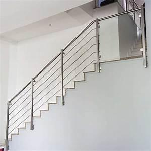Garde Corp Escalier : rampe escalier inox 5 barres pose anglaise inoxdesign ~ Dallasstarsshop.com Idées de Décoration