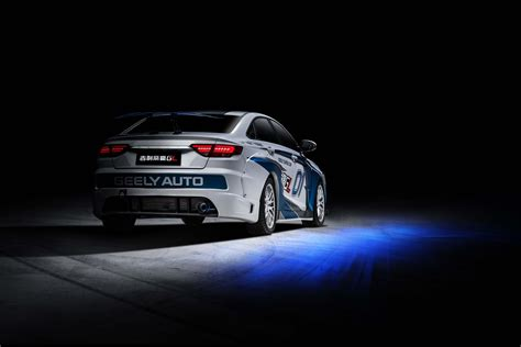 geely showcases emgrand gl race car  super cup geely